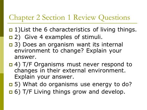 chapter 2 the chemistry of life section review 2 3 chapter 2 characteristics of living organisms ppt video