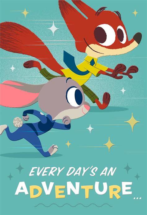 Disney Zootopia  Ee  Birthday Ee   Adventure Card With Magnets