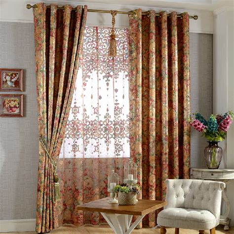 insulated fabric for curtains pastoral insulated exquisite jacquard chenille fabric