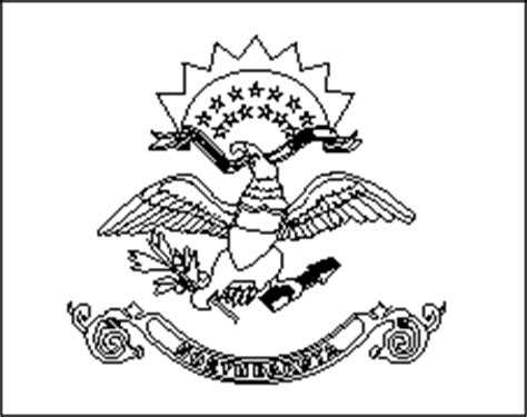 north dakota state flag coloring pages usa for kids