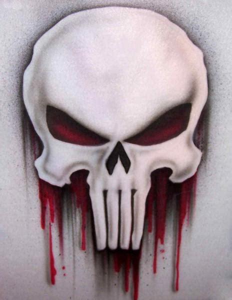 bleeding punisher skull airbrushed  shirt  sweatshirt