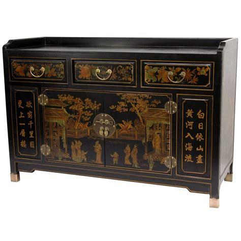 oriental furniture black lacquer cabinet oriental furniture black lacquer village life buffet table