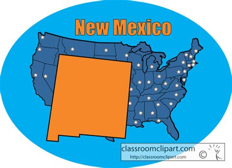 new mexico state colors us state maps new mexico state map color blue
