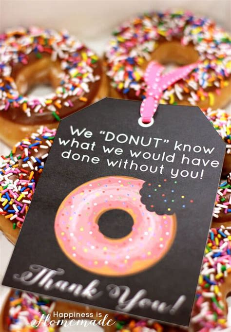 free thank you card templates donut free printable donut thank you gift tags happiness is