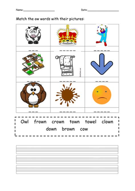 Ow Worksheets by Phonics Phase 3 Practice Worksheets By Mflx4eb2 Teaching
