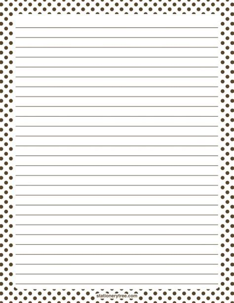 printable stationary download printable brown and white polka dot stationery and writing