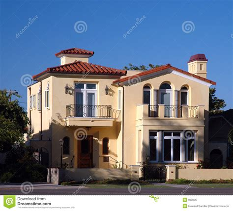 spanish inspired house design spanish style house royalty free stock photo image 983095