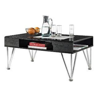 Dorel Home Furnishings Rade Coffee Table Black Silver Black Silver Coffee Table