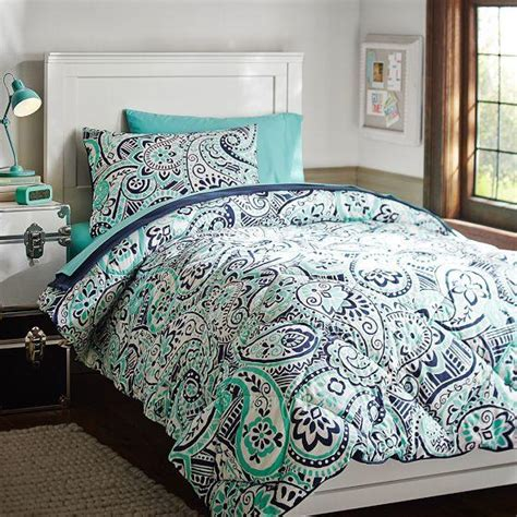 paisley bed set regan paisley deluxe bedding set from pbteen