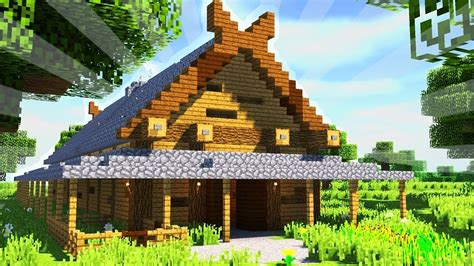 how long to build a house how to build a viking longhouse in minecraft creative building youtube