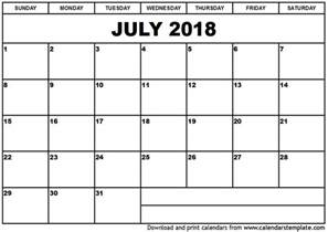 Calendar 2018 Printable Calendar July 2018 Calendar Template