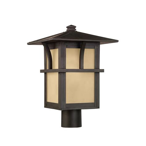 Seagull Outdoor Lighting Sea Gull Lighting Medford Lakes 1 Light Outdoor Statuary Bronze Post Light 82880en 51 The Home