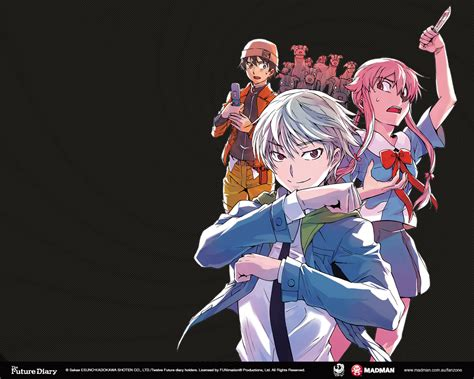 future diary the future diary wallpapers madman entertainment