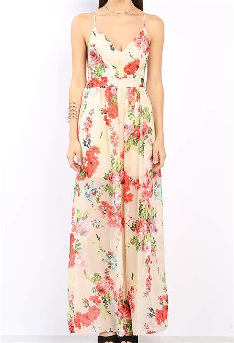 pattern dress chiffon floral pattern chiffon maxi dress shop day dresses at