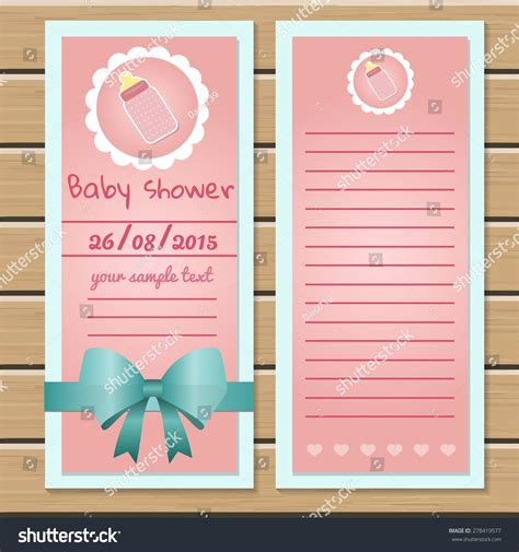 templates for baby shower in vector from stock 25 eps baby shower card template stock vector 278419577