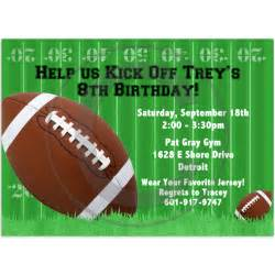 football birthday invitation