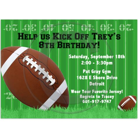 Football Invitation Template by Football Birthday Invitation
