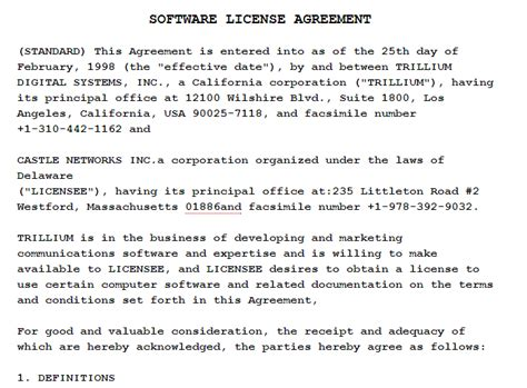 template software license agreement 95 best agreement templates sle templates