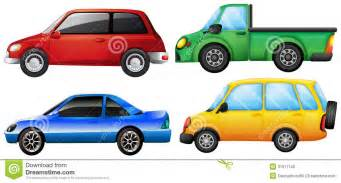 four cars with different colors stock photo image 31911140