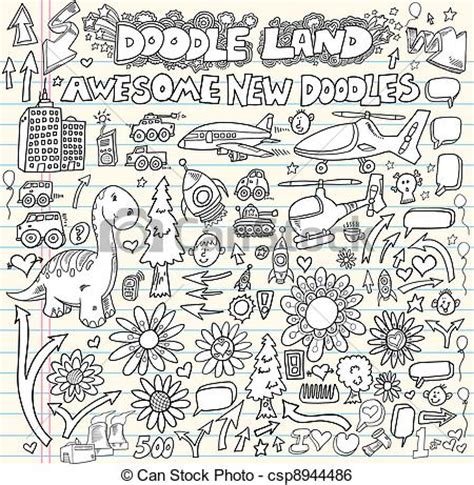 free doodle design elements clip vector of doodle design elements vector set