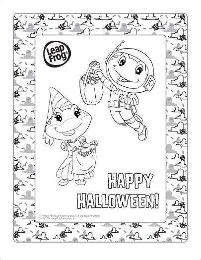 halloween coloring pages pre k join lily tad and the whole leapfrog gang for halloween