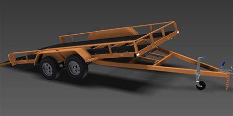 tilt boat trailer designs 2500kg tilt flatbed trailer plans