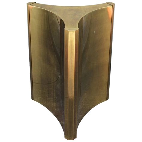 luxe mastercraft brass pedestal table base at 1stdibs