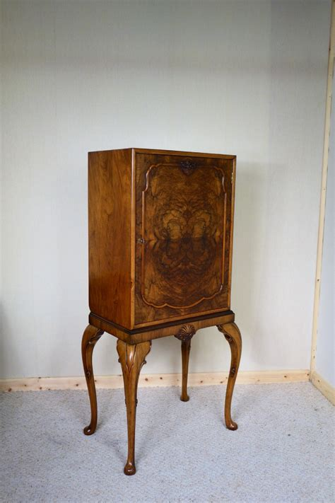 Large Walnut Cabinet On Tall Legs   276918   Sellingantiques.co.uk