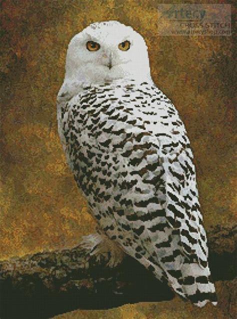 artecy cross stitch snowy owl cross stitch pattern