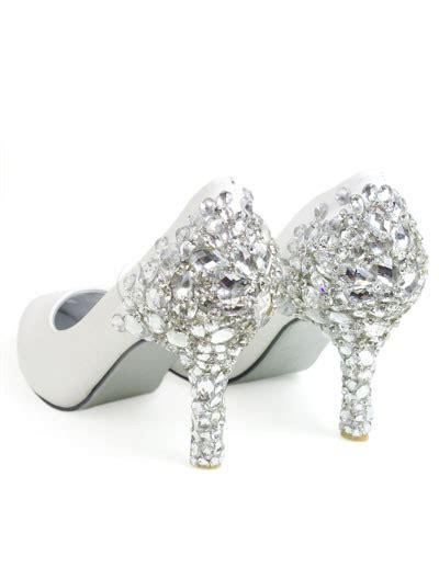 Brautschuhe Aus Leder by Pr 228 Chtige Damen Brautschuhe Aus Leder Mit Kunstdiamanten