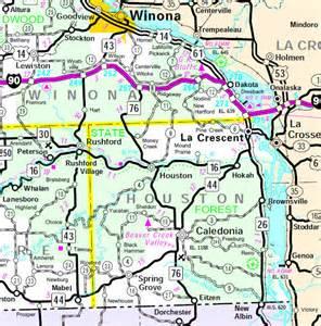 houston counties map houston county minnesota guide