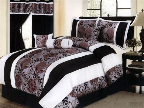 black and white comforter set queen rs floral design