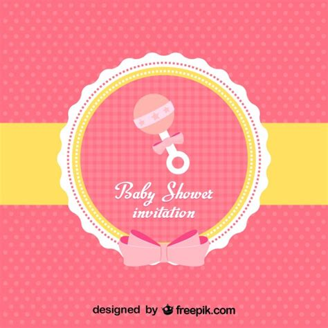 invite baby shower vector baby shower invitation vector free download