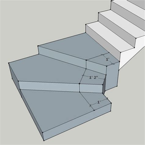 ibc stair design winder walkline