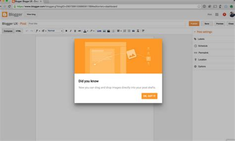 blogger help forum now drag drop images in post editor in blogger stramaxon
