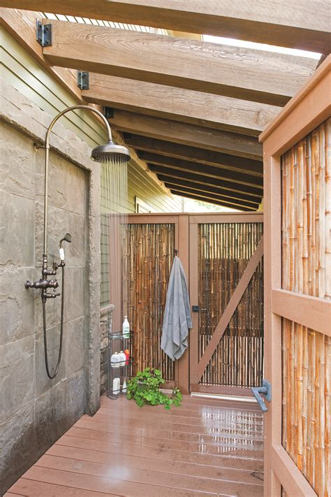 outdoor shower privacy outdoor shower roof privacy inspiration house make