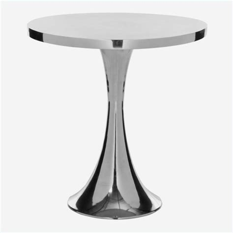 galium aluminum side table in silver fox5500a