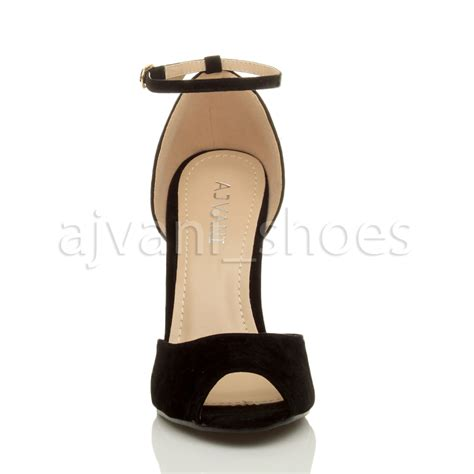 Heels Ir 20 womens stiletto high heel peep toe ankle buckle sandals shoes size ebay