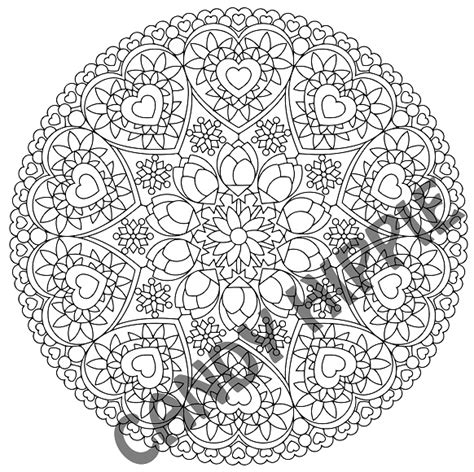 romantic mandala coloring pages valentines day mandala candy hippie coloring pages