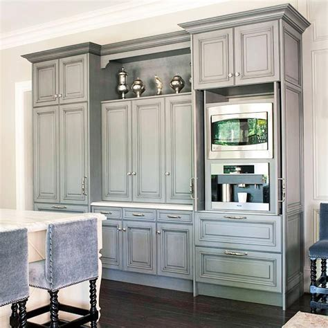 grey kitchen cabinets gray cabinets transitional kitchen bhg