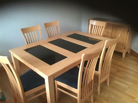 Dining Table Solid Wood And Marble With 6 Chairs And Marble And Wood Dining Table