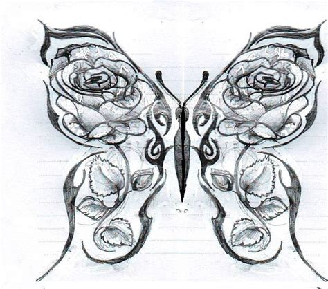 tattoos of roses and butterflies drawings of roses and hearts butterfly with roses by