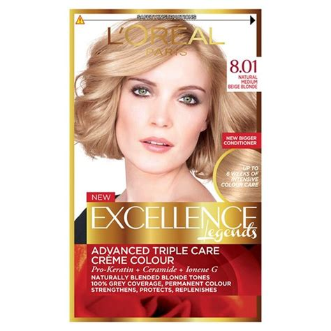 l oreal excellence creme haircolor medium 8 ebay morrisons l oreal excellence legends medium beige 8 01 product information