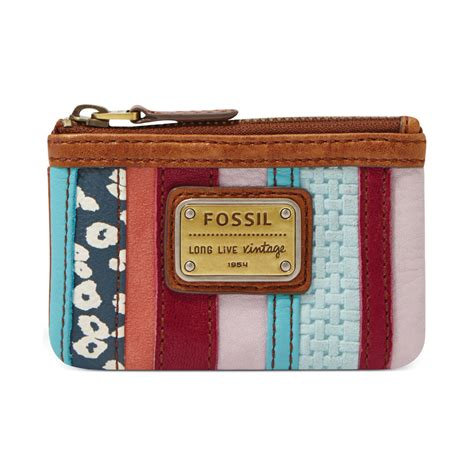 Fossil Patchwork Purse - fossil emory leather patchwork zip coin purse in