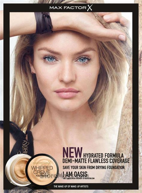 candice swanepoel  max factor whipped creme foundation