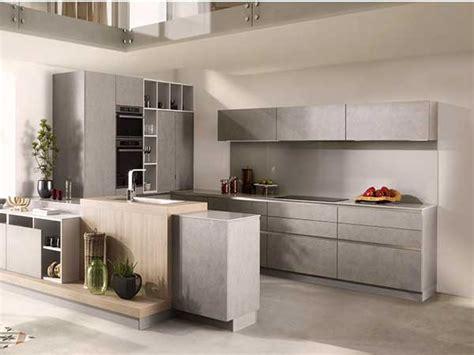 Supérieur Peindre Carrelage Cuisine Plan De Travail #4: cuisine-americaine-grise-style-minimaliste-schmidt.jpg