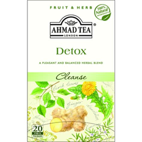 Ahmad Cleansing Detox Tea by Sadaf Herbal Cleansing Detox Infusion Foil 20 Tea Bags