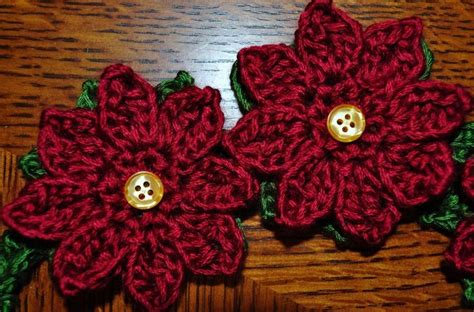 pattern crochet poinsettia poinsettia garland headband flower patterns and crochet