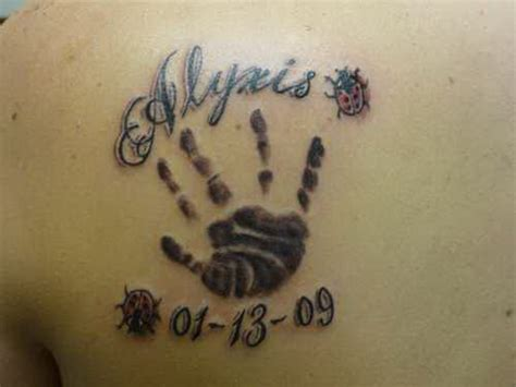 baby handprint tattoo designs baby footprint name and date splendid tattoos 171 top