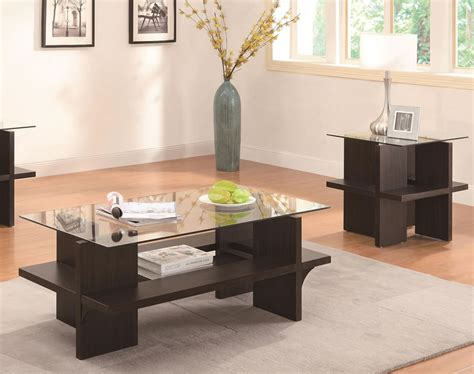Contemporary Style Living Room Design With Coaster 3 Pc Table Ls For Living Room Modern